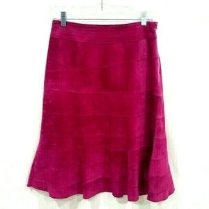 MaryJane Marcasiano pink suede leather skirt